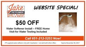 Plumbing-St-Paul-MN-Water-Softener-Coupon