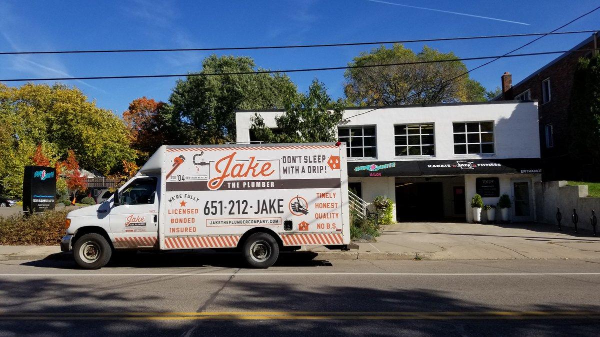 Jake the Plumber truck at jobsite