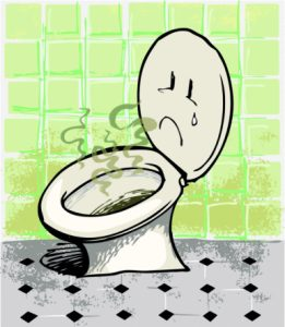 Sewer gas smell toilet