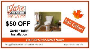 Jake the Plumber Toilet Coupon