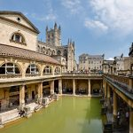 Roman Bath in Bath, England, built by the Romans